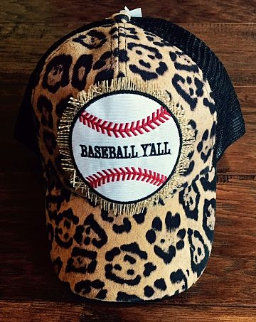 Baseball Y'all Leopard Cap