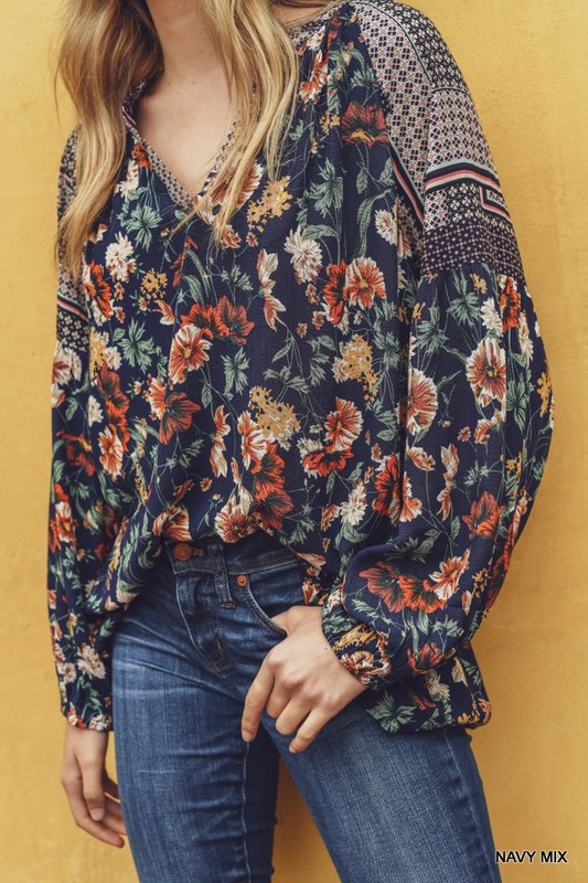 Navy Fall Floral