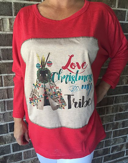 Love Christmas with My Tribe Tunic
